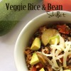 Veggie Rice and Bean Skillet