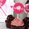 Valentine Cupcake Toppers {free instant download}