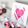 You're Sweet take a Treat Valentine's Sign {free printable}