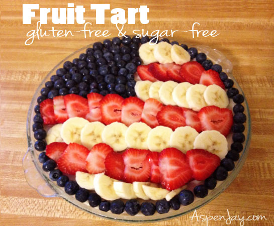 Fruit Tart: gluten-free, sugar-free, and DELICIOUS!!! Completely healthy. It makes a great breakfast.