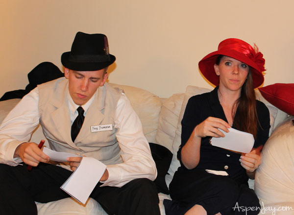 Great ideas for a 1920's Murder Mystery party!