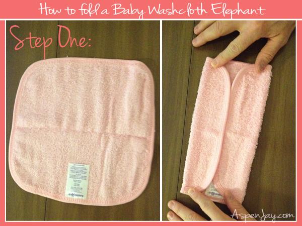 How To Fold A Washcloth Elephant Aspen Jay