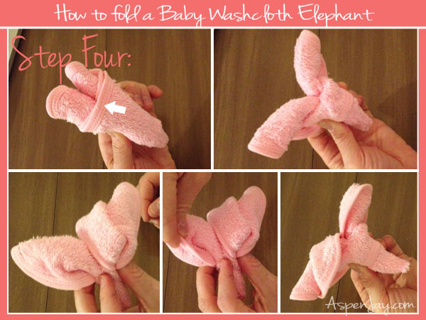 Great tutorial on how to fold a baby washcloth elephant this is easy