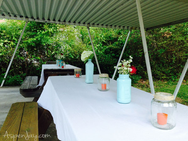 Backyard BBQ Party-simple yet classy decor to spruce up the party
