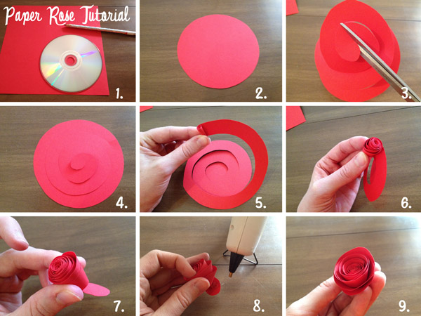 How to make a paper rose-so simple!