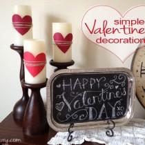 Simple & inexpensive valentine's decorations