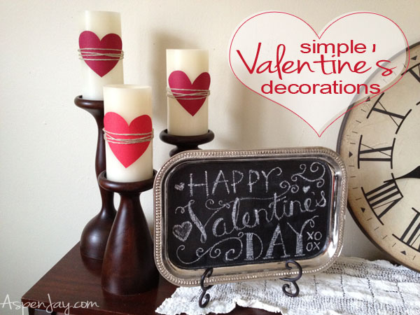 Simple & inexpensive valentine's decorations