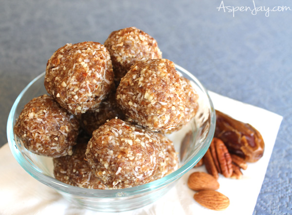 A perfect treat that is completely guilt free! All raw nutty coconut ball cookies-no sugar or gluten