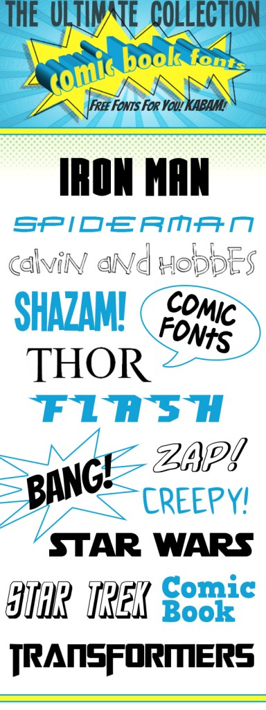 comic fonts, superhero fonts