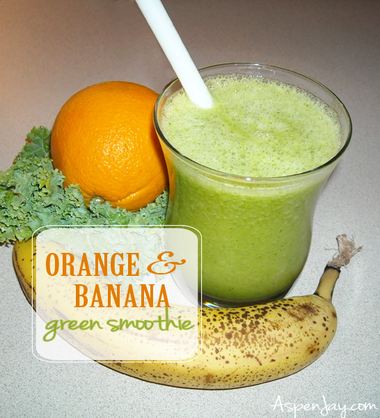 orange banana green smoothie