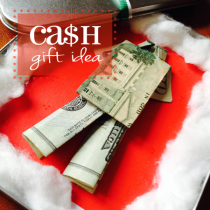 Creative Christmas Cash gift idea-origami clothes!