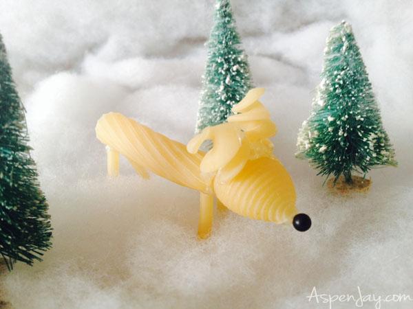 noodle reindeer kid craft