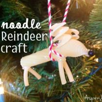 noodle reindeer craft ornament