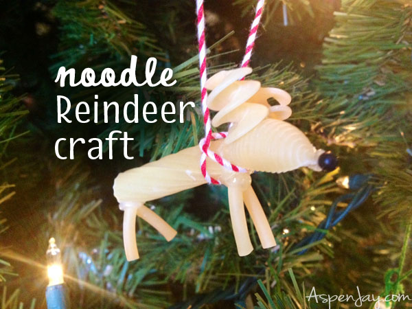 noodle reindeer craft ornament