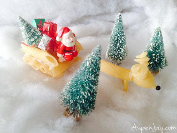 noodle reindeer kid craft with santa