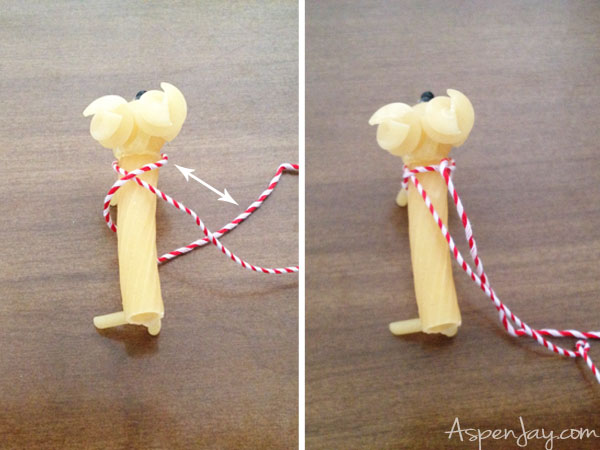 creating the reindeer noodle harness