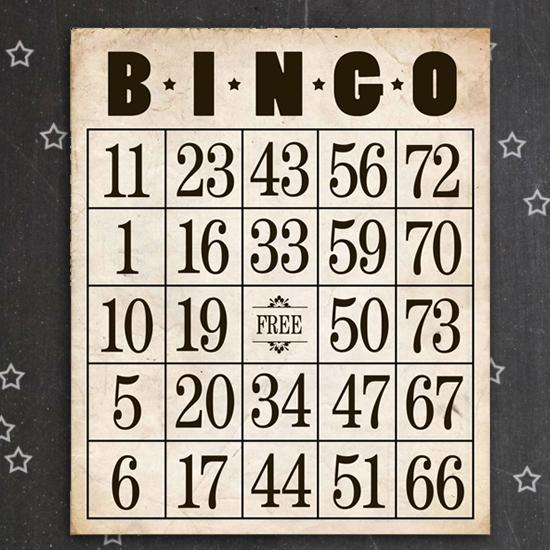 Vintage Bingo Card 7