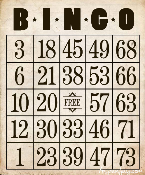 Hope you enjoy these printable bingo cards!