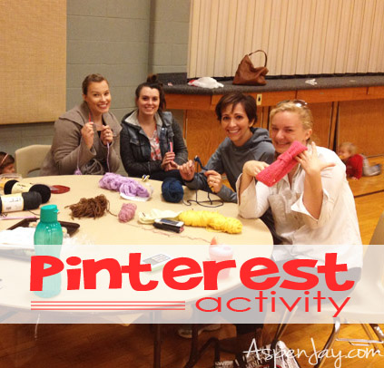 Pinterest Activity- everyone bring a project to work on or all work on the same type of project they found off of pinterest