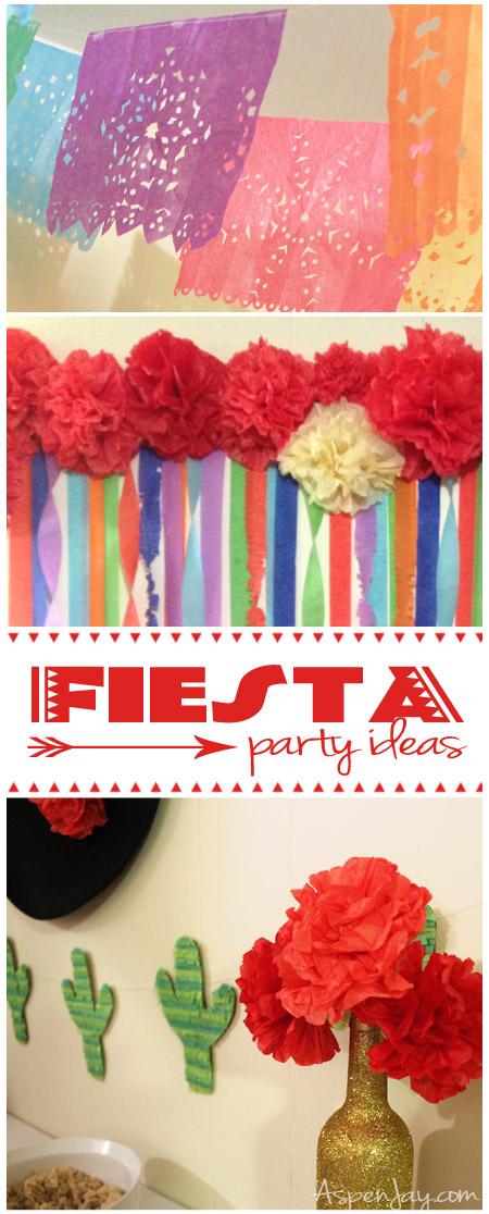 Diy tissue pom pom backdrop - Mexican Fiesta Party Ideas Aspen Jay