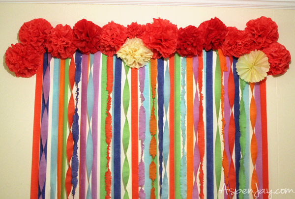 Tissue paper flower decorations nurufunicaasl tissue paper flower decorations mexican fiesta party ideas aspen jay mightylinksfo