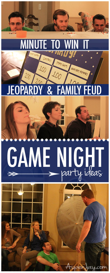 game party mix of jeopardy minute2winit and family feud this looks would