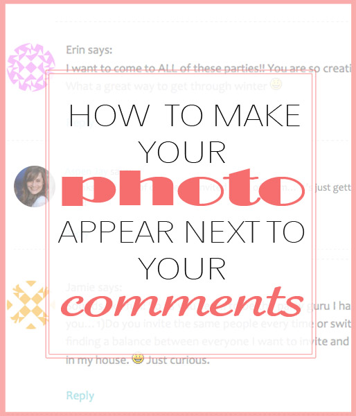how to make avatar photo next to your comments