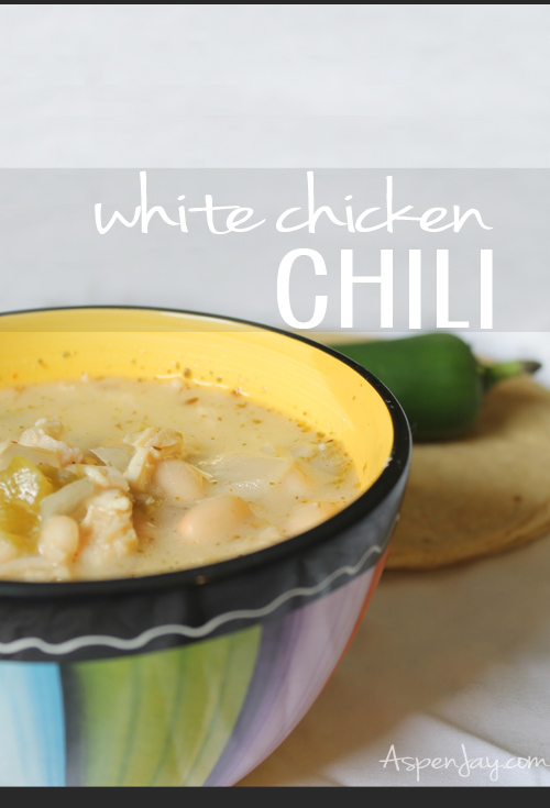 White Chicken Chili Recipe- this is SO good! I love the extra creaminess!