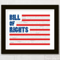 Free 4th of July printable of the Bill of Rights- easy way to decorate for the holiday!