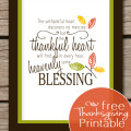 Cute free thankful printable. This would be really cute on my gallery wall!
