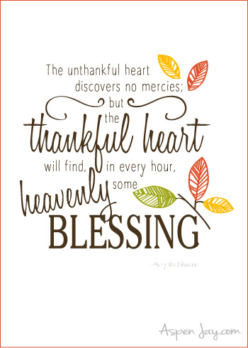 graphic relating to Thankful Printable named Free of charge Grateful Printable - Aspen Jay
