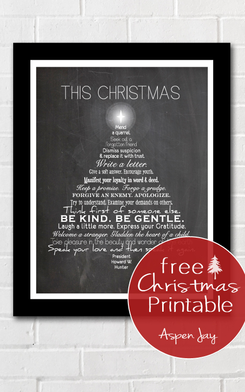 This Christmas Free Printable - Aspen Jay