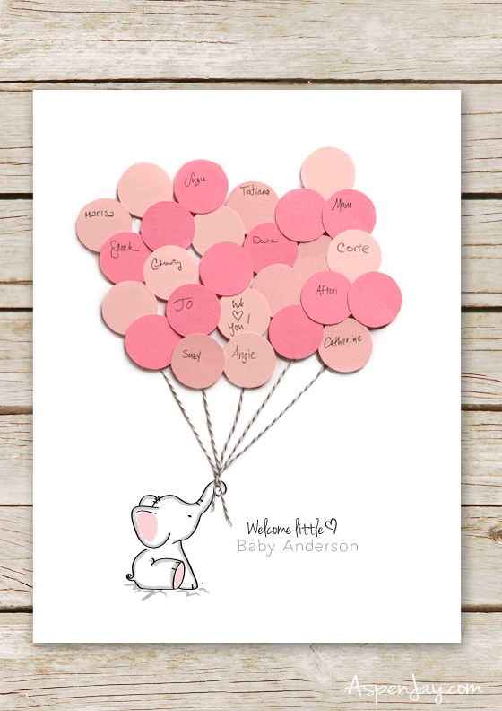 Free Elephant Baby Shower Guest Book Printable SUPER Cute And You Can Even Customize