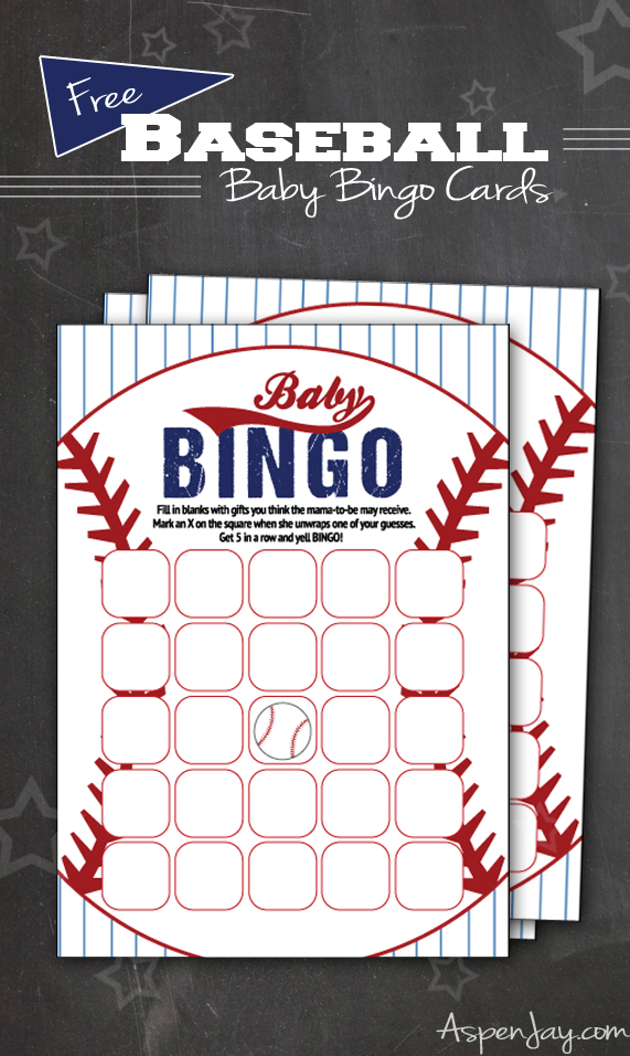 Free Baseball Baby Bingo Cards Aspen Jay