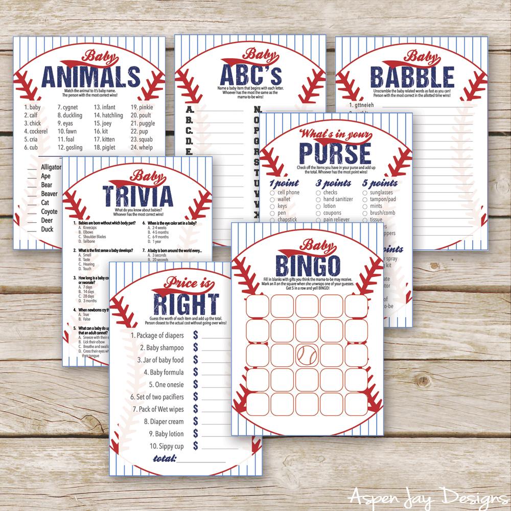 image regarding Free Printable Baby Shower Bingo Cards for 30 People identified as Totally free Baseball Boy or girl Bingo Playing cards - Aspen Jay