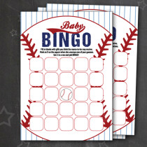 FREE! Baseball Baby Bingo Cards for a baseball themed shower. So CUTE!!! This is such a fun game to play when the mama-to-be is opening presents. Everyone is entertained in the gift unwrapping. Saving for later!