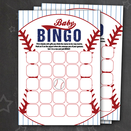 graphic about Free Printable Baby Shower Bingo Cards for 30 People referred to as No cost Baseball Kid Bingo Playing cards - Aspen Jay