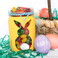 DIY Easter Bunny Jars tutorial. Super cute and simple to make. Great use of old jars!