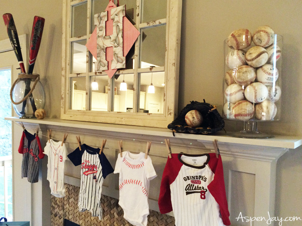Baseball Themed Baby Shower Aspen Jay