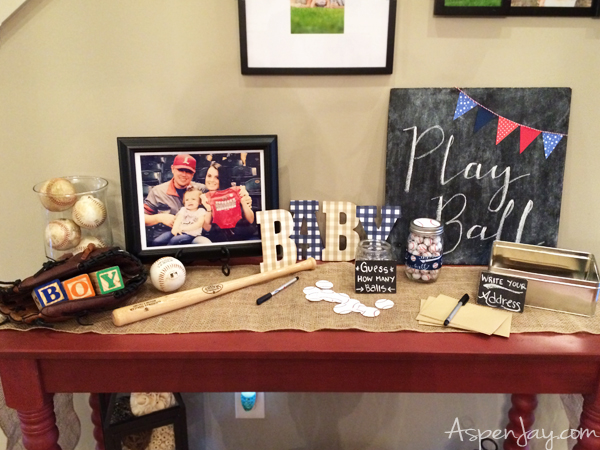 Super Cute Baseball Themed Baby Shower. Everything Is Just Perfect! She  Even Includes The