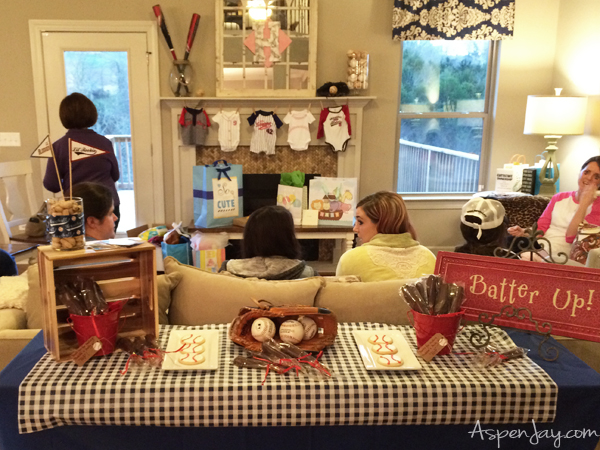 Super Cute Baseball Themed Baby Shower Everything Is Just Perfect She Even Includes The