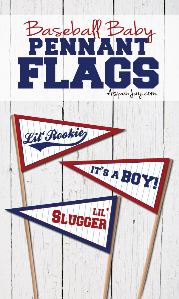 photograph relating to Printable Pennants identified as Baseball Youngster Pennant Flags - Aspen Jay