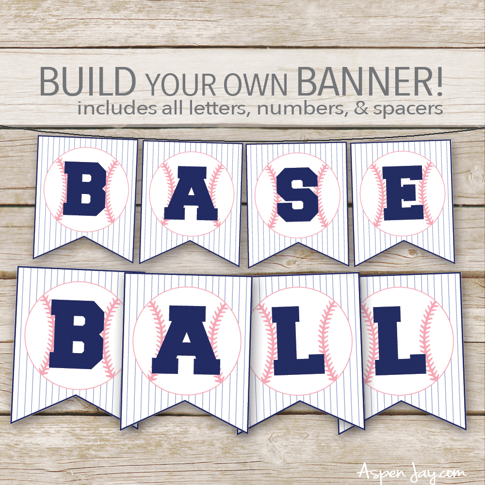 pink baseball banner- SUPER cute for a little girl's themed baseball party!!!!
