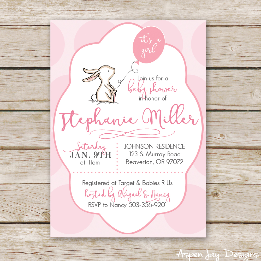 little bunny baby shower invites- so precious! with matching bunny guest book printable!