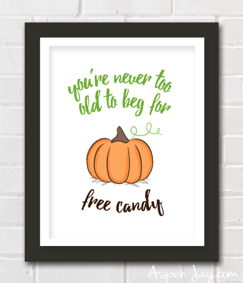 Free fun pumpkin printable. For the young at heart at Halloween