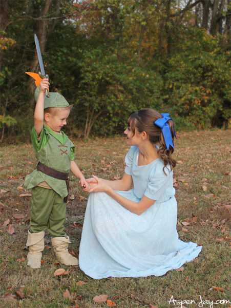 Peter pan costumes for Halloween! Escape to Neverland. :) Has a vast amount of characters- a Peter Pan theme would be PERFECT for next year!!! Definitely pinning!
