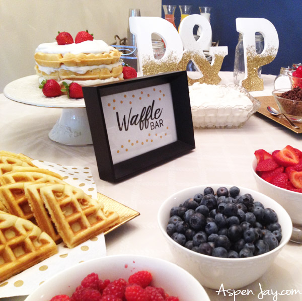 Brunch Food Ideas For Baby Shower: Waffle Bar Party