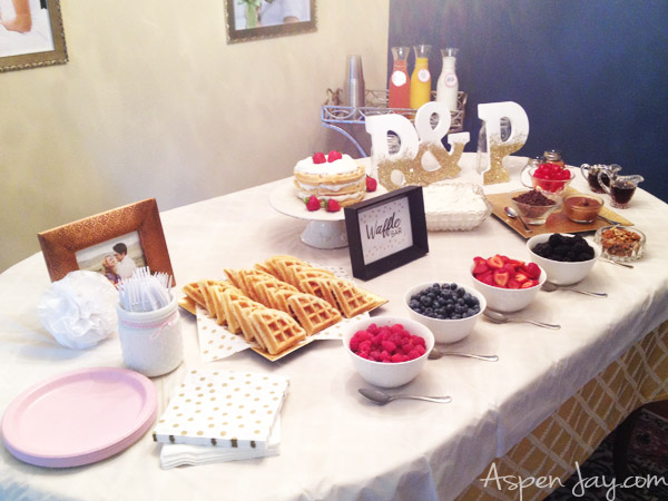 bridal shower waffle bar what a cute idea for a bridal shower or a baby