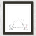 Twin Elephant Baby Shower Guest Book Printable. Super sweet idea to use at a baby shower and then hang up in the nursery! Mama-to-be would LOVE it! Pinning for the next baby shower I throw!!