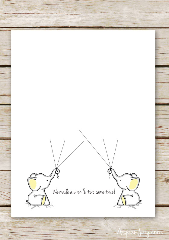 FREE Twin Elephant Baby Shower Guest Book Printable. Super Sweet Idea To  Use At A